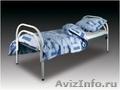 Металлические кровати с ДСП спинками для пансионатов,  кровати для гостиниц.
